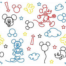 RoomMates® Disney® Mickey Mouse Line Art Peel & Stick Wallpaper in Red/Yellow
