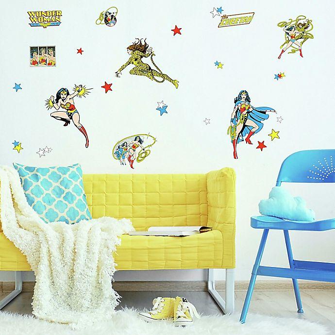 Alternate image 1 for RoomMates® Wonder Woman Cartoon Peel & Stick Wall Decals