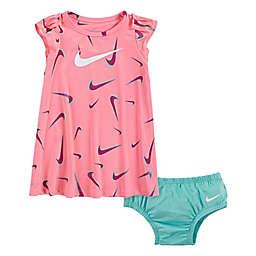 Nike® 3D Swoosh Printed Dress in Pink