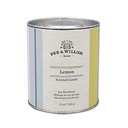 Bee & Willow™  Home Lemon 11 oz. Tin Candle with Linen Stripe Design