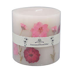 Bee & Willow™ Home 24 oz. Pink Flower Spring Unscented Pillar Candle