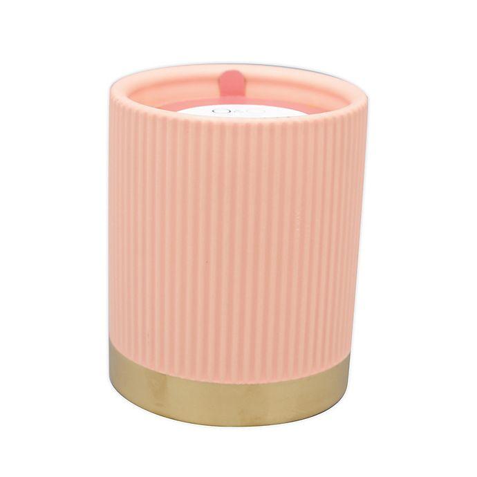 Alternate image 1 for O&O by Olivia & Oliver™ Tobacco 14.5 oz. Fluted Metallic Band Jar Candle