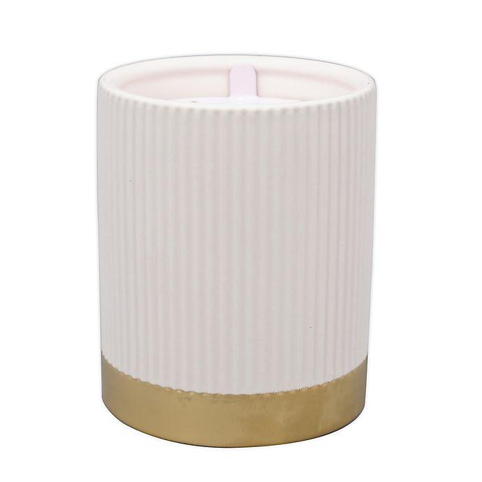 Alternate image 1 for O&O by Olivia & Oliver™ Neroli 14.5 oz. Fluted Metallic Band Jar Candle