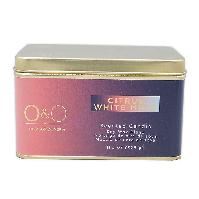 Alternate image 1 for O&O by Olivia & Oliver™ 14 oz. Citrus White Mush Tin Candle