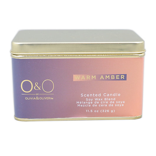 Alternate image 1 for O&O by Olivia & Oliver™ 14 oz. Warm Amber Tin Candle