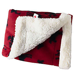 CosyCare CosyToes Mountain Fleece and Sherpa Baby Blanket in Red