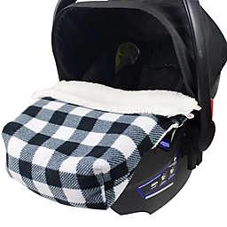 CosyCare CosyToes Mountain Fleece Baby Blanket in Black/White