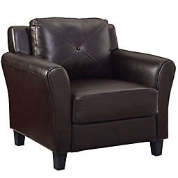 Lifestyle Solutions® Oliver Faux Leather Armchair in Java