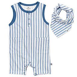 The Honest Company® Newborn 2-Piece Romper and Bib Set in Blue