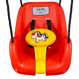 M&M Sales Enterprises Unicorn Toddler Swing in Blue/Yellow