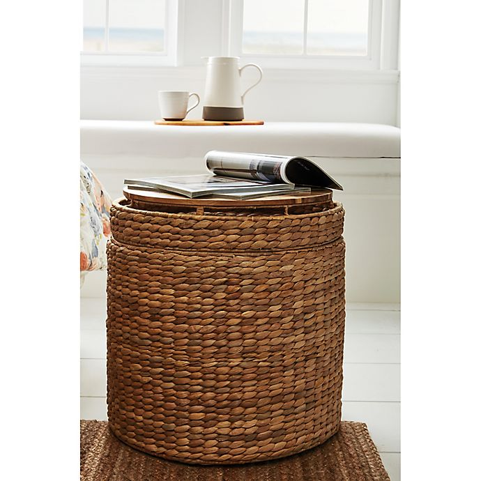 Alternate image 1 for Bee & Willow™ Home Water Hyacinth Storage Ottoman in Natural