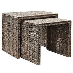 Bee & Willow™ Home 2-Piece Seagrass Nesting Side Table Set in Natural