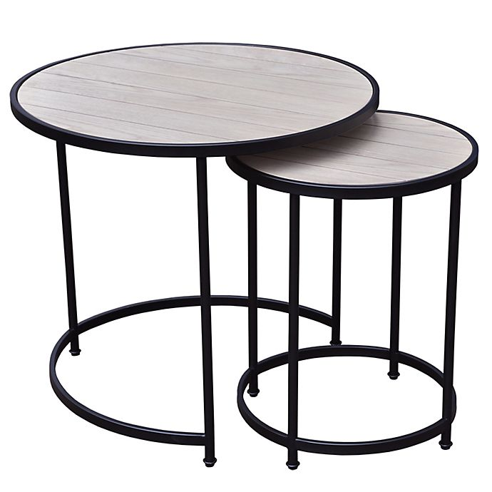 Alternate image 1 for Bee & Willow™ Home 2-Piece Round Nesting Side Table Set in Light Natural