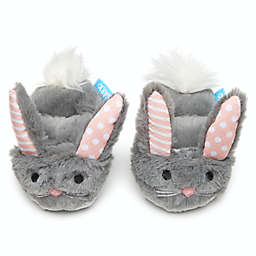 BARK Itty & Bitty the Bunny Slippers Squeaker Dog Toy in Grey