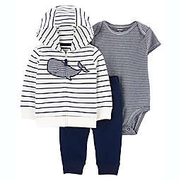 carter's® Whale 3-Piece Little Jacket, Bodysuit, and Pant Set in Blue