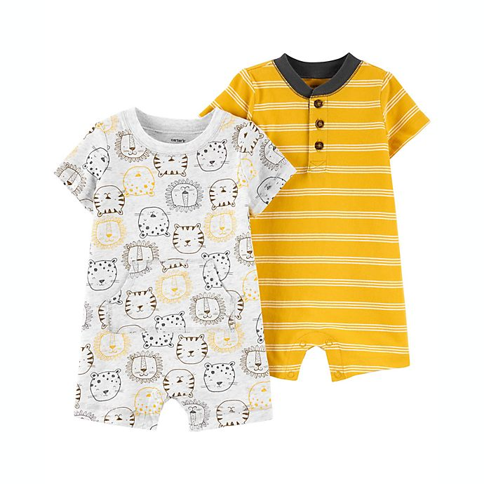 Alternate image 1 for carter's® 2-Pack Cotton Rompers