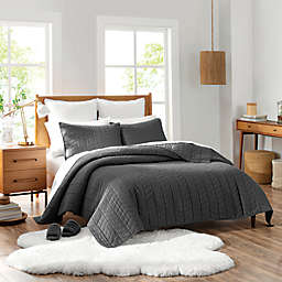 UGG® Dawn 2-Piece Twin Quilt Set in Charcoal