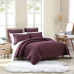 UGG® Dawn 2-Piece Twin Quilt Set in Cabernet