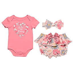 Baby Starters® 3-Piece Sweet Like Mommy Bodysuit, Diaper Pant and Headband Set in Pink