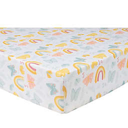 Sammy & Lou 2-Pack Butterflies and Sunshine Microfiber Fitted Crib Sheets in Yellow