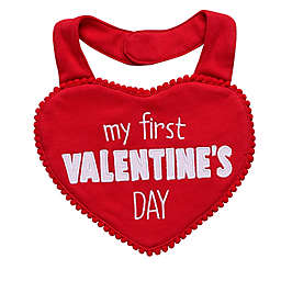 "Baby Starters® ""My First Valentine's Day"" Heart Bib in Red"