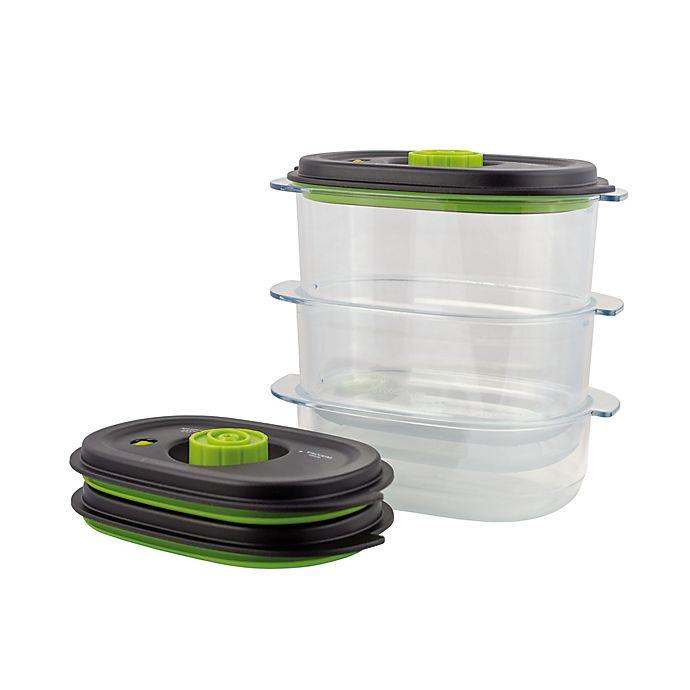 Alternate image 1 for Foodsaver Preserve & Marinate Vacuum Containers (Set of 3)