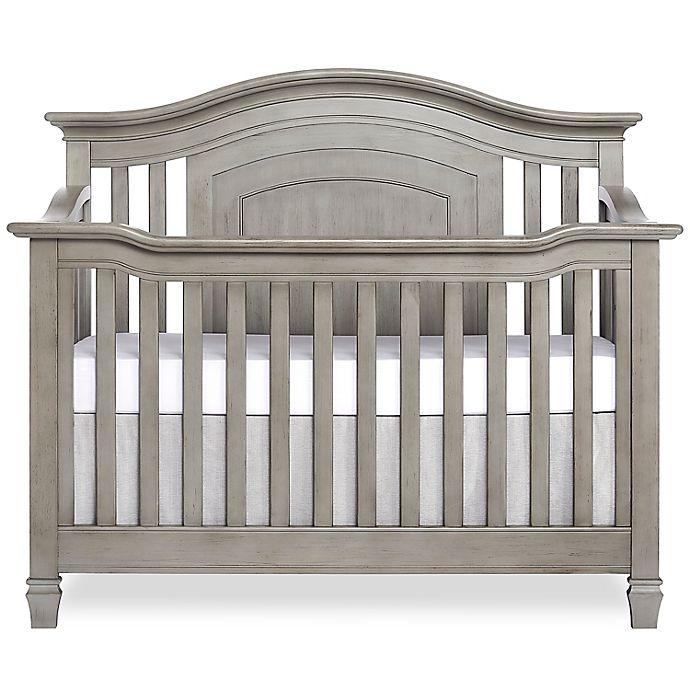 Alternate image 1 for Evolur Fairbanks 5 in 1 Convertible Crib Ash Grey