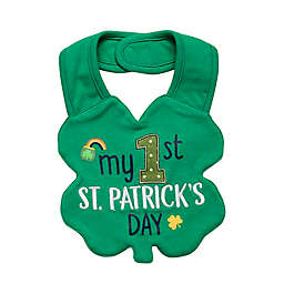 "Baby Starters® ""My First St. Patrick's Day"" Bib in Green"
