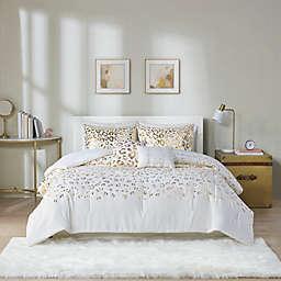 Intelligent Design Lillie 5-Piece King/California King Comforter Set in Ivory/Gold