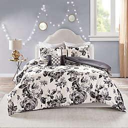 Intelligent Design Dorsey Reversible King/California King Comforter Set in Black/White