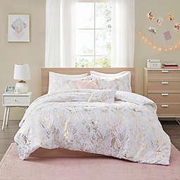 Intelligent Design Magnolia Printed Floral 5-Piece King/California King Comforter Set in Gold