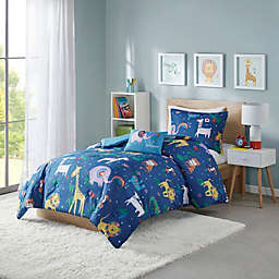 Mi Zone Kids Rainbow Animals Comforter Set