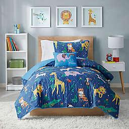 Mi Zone Kids Reversible Rainbow Animals Coverlet Set