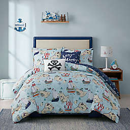 Urban Habitat Pirate Adventure Reversible Comforter Set in Blue