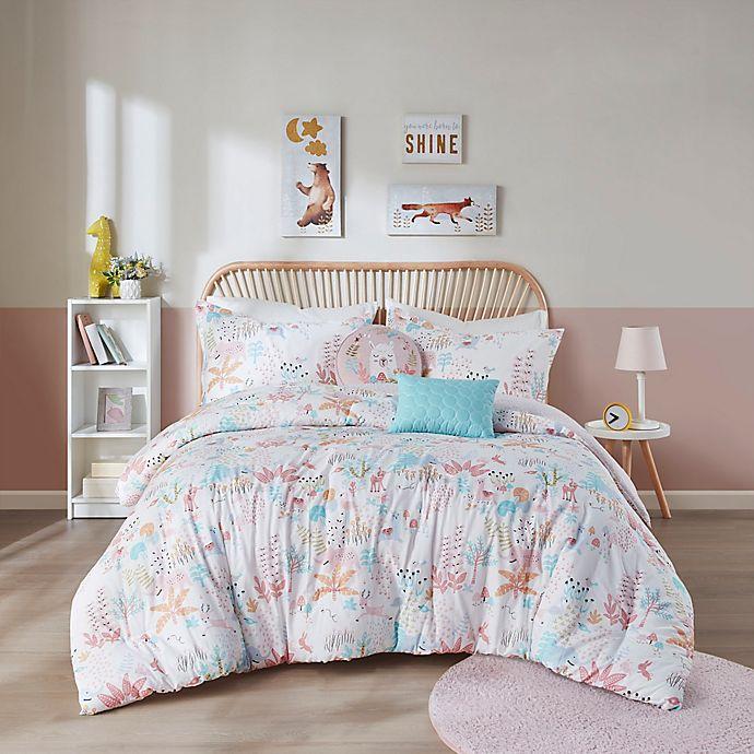 Alternate image 1 for Urban Habitat Kids Iris Reversible Comforter Set in Blush
