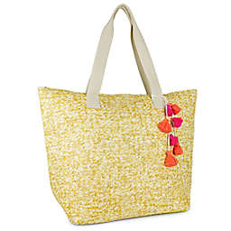 Magid Novelty Insulated Straw Beach Tote