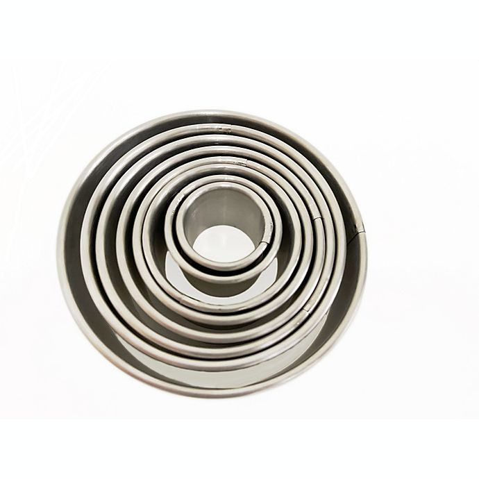 Alternate image 1 for Our Table™ 8-Piece Stainless Steel Round Cookie Cutters Set