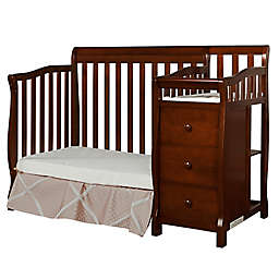 Dream On Me Jayden 4-in-1 Mini Convertible Crib and Changer in Espresso