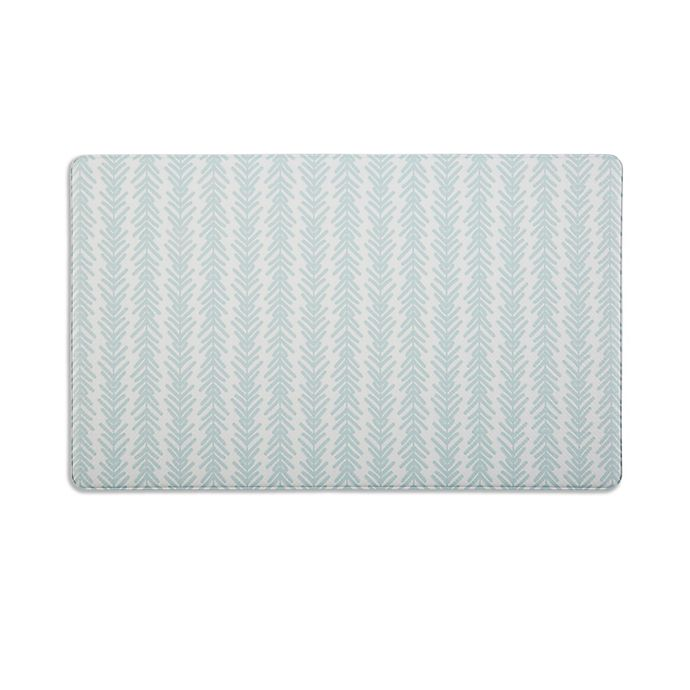 Alternate image 1 for Simply Essential™ 18-Inch x 30-Inch Reversible Kitchen Mat in Light Blue