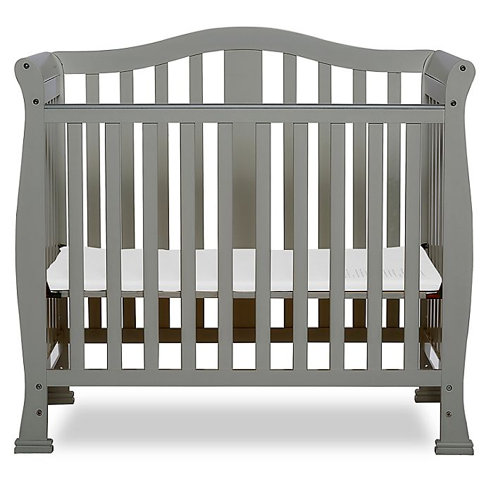 Alternate image 1 for Dream On Me Naples 4-in-1 Convertible Mini Crib in Cool Grey