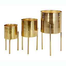 Ridge Road Decor Contemporary Metal Planters (Set of 3)