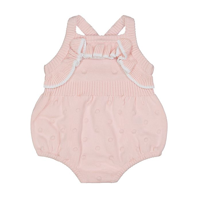Alternate image 1 for Clasix Beginnings™ by Miniclasix® Sleeveless Sweater-Knit Romper in Peach