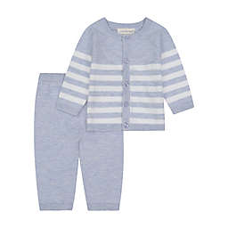 Clasix Beginnings™ by Miniclasix® 2-Piece Cardigan and Pant Set in Heather Blue
