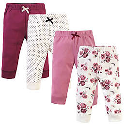Hudson Baby® 4-Pack Cotton Pants in Rose