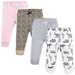 Hudson Baby® 4-Pack Modern Safari Cotton Pants