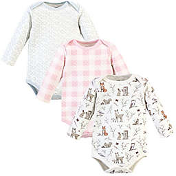 Hudson Baby Quilted LS Bodysuits Enchanted 9-12M