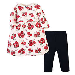Hudson Baby® Size 2T 2-Piece Quilted Dress and Leggings Set in Red Rose