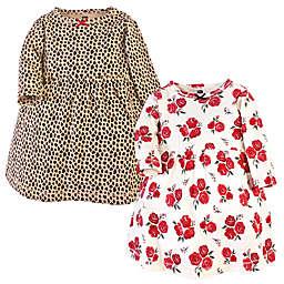 Hudson Baby® 2-Pack Cotton Dresses in Rose/Leopard