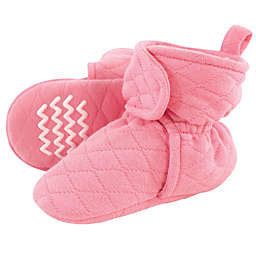 Hudson Baby® Size 12-18M Quilted Booties in Begonia