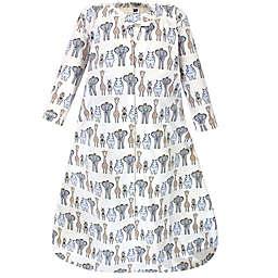 Hudson Baby® Size 0-6M Royal Safari Long Sleeve Wearable Blanket in Royal